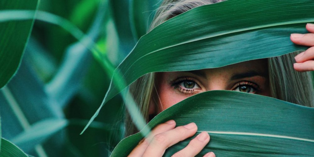 The Art of Slowing Down beautiful woman in the leaves   The Sublime Woman
