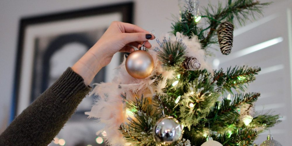 Magical Christmas Tree Decorating woman decorating the tree christmas ritual | The Sublime Woman