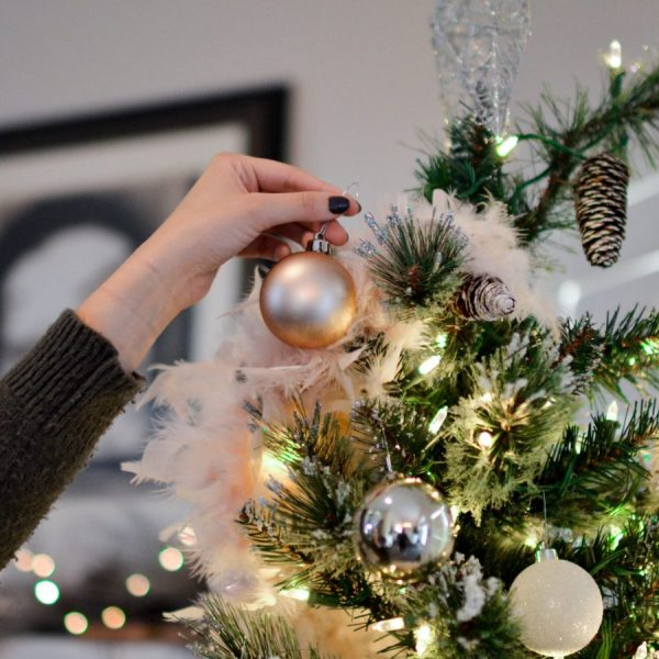 Magical Christmas Tree Decorating woman decorating the tree christmas ritual | The Sublime Woman