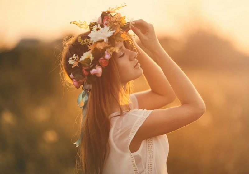 Feminine Goals beautiful young woman with flower crown | The Sublime Woman